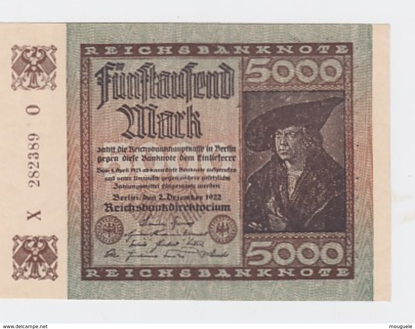 Billet De 5000 Mark Du 2-12-1922 Pick 81  Neuf - Altri
