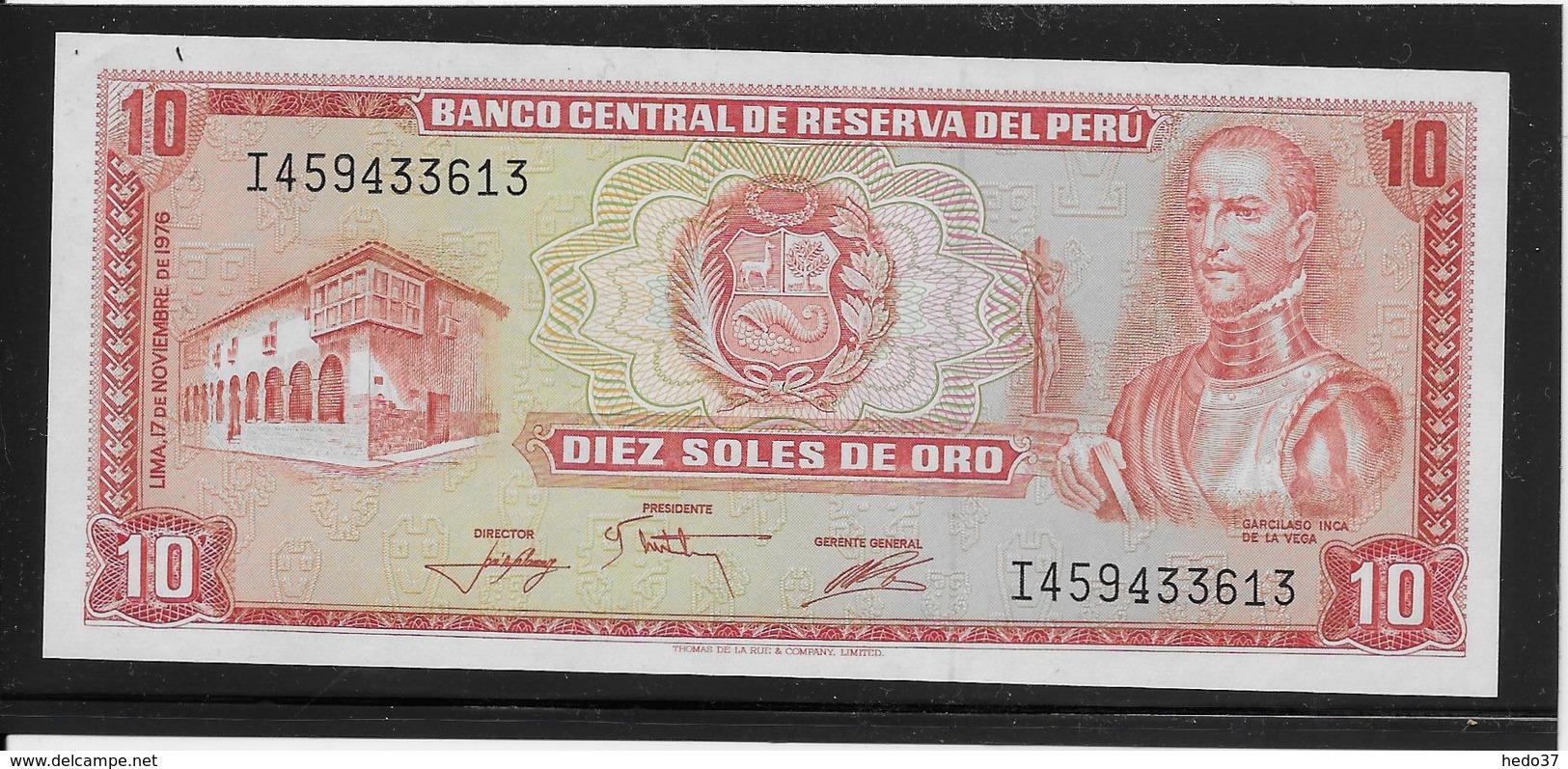 Pérou - 10 Soles De Oro - Pick N°112 - NEUF - Pérou