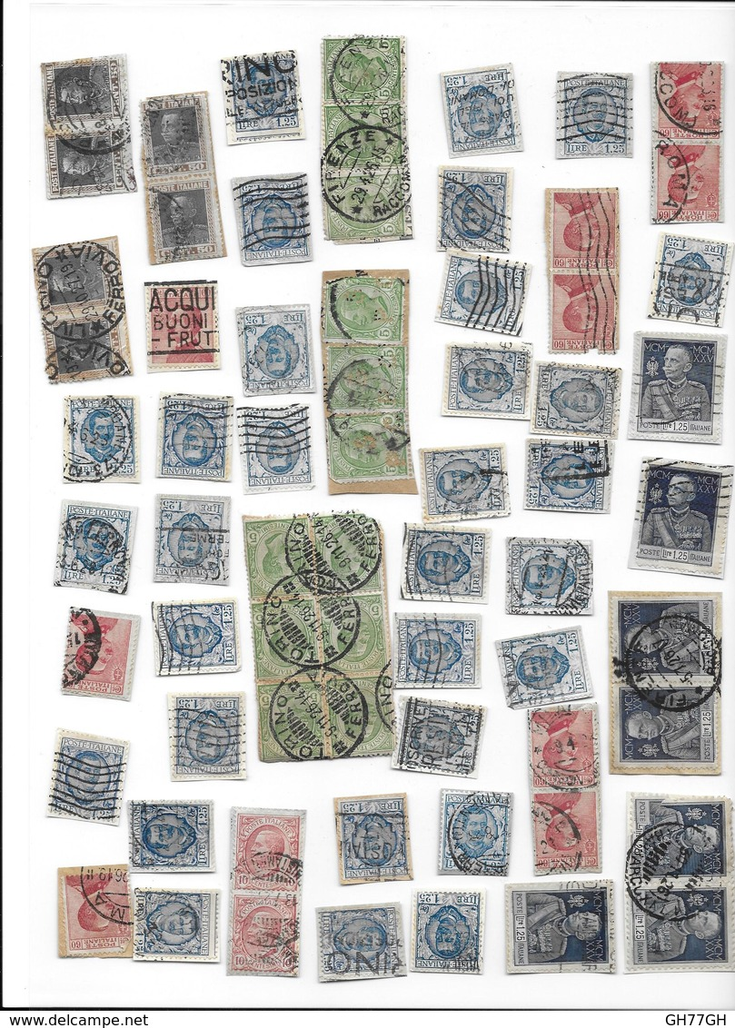 LOT ITALIE 140 TIMBRES -ITALIA - Timbres