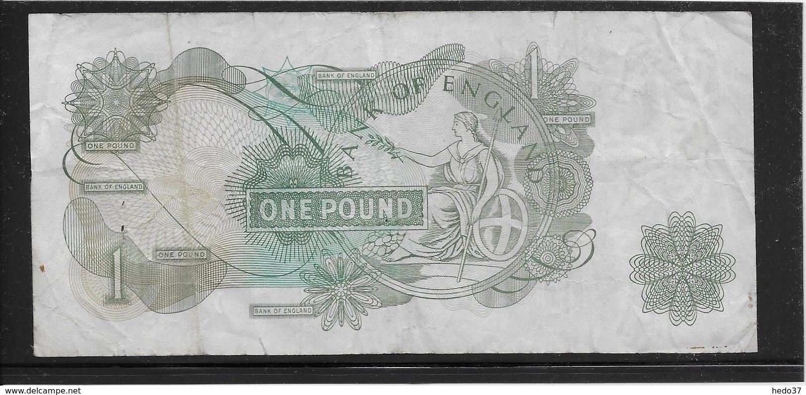 Grande Bretagne - 1 Pound - Pick N°374 - TB - 1952-… : Elizabeth II