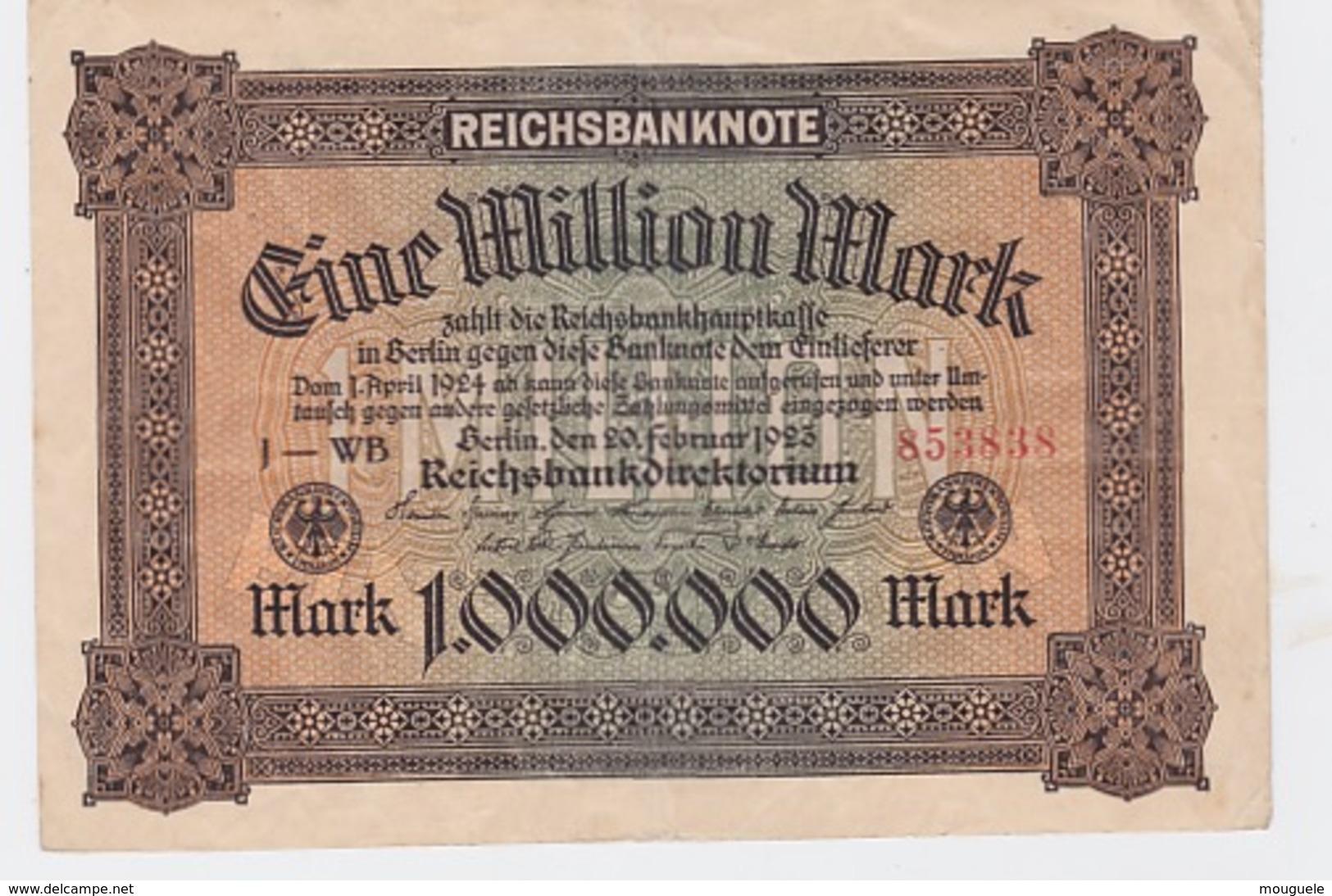 Billet De 1 Million De Mark Du 20-2-23     Pick 86   Uniface - Altri