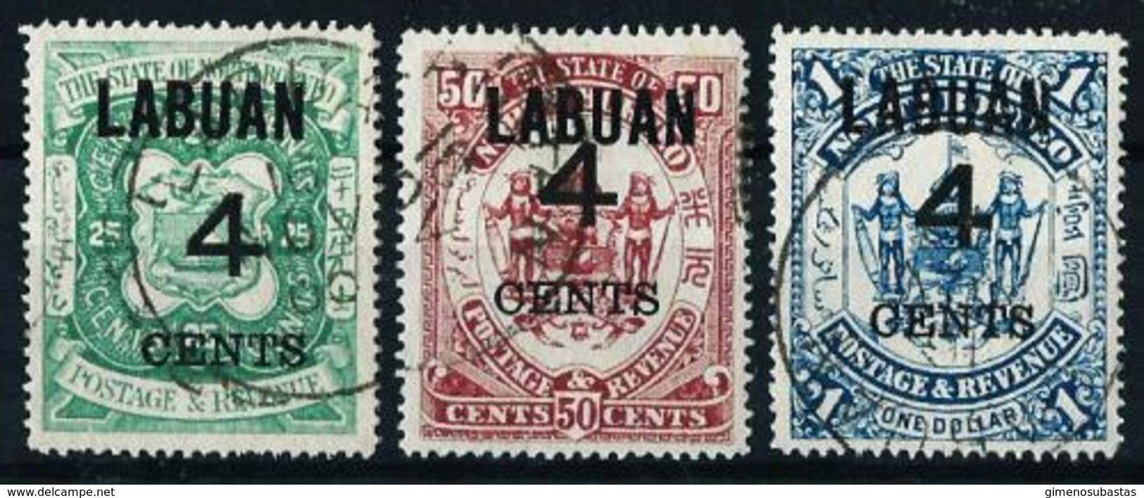 Labuan (Británico) Nº 92/4 USADO - Grande-Bretagne (ex-colonies & Protectorats)