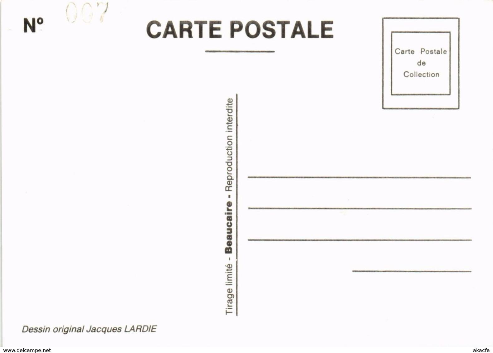 CPM LARDIE La Vie Chez Les Freres Trois Points No. 305 FREEMASONRY (861172) - Lardie