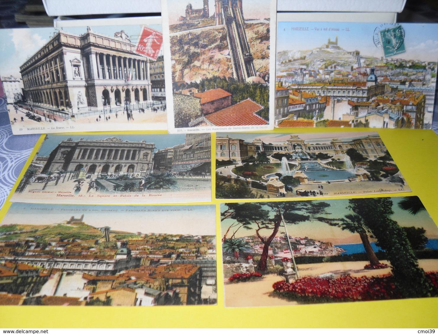 7 Divers De Marseille + Une Kdo - Cartes Postales