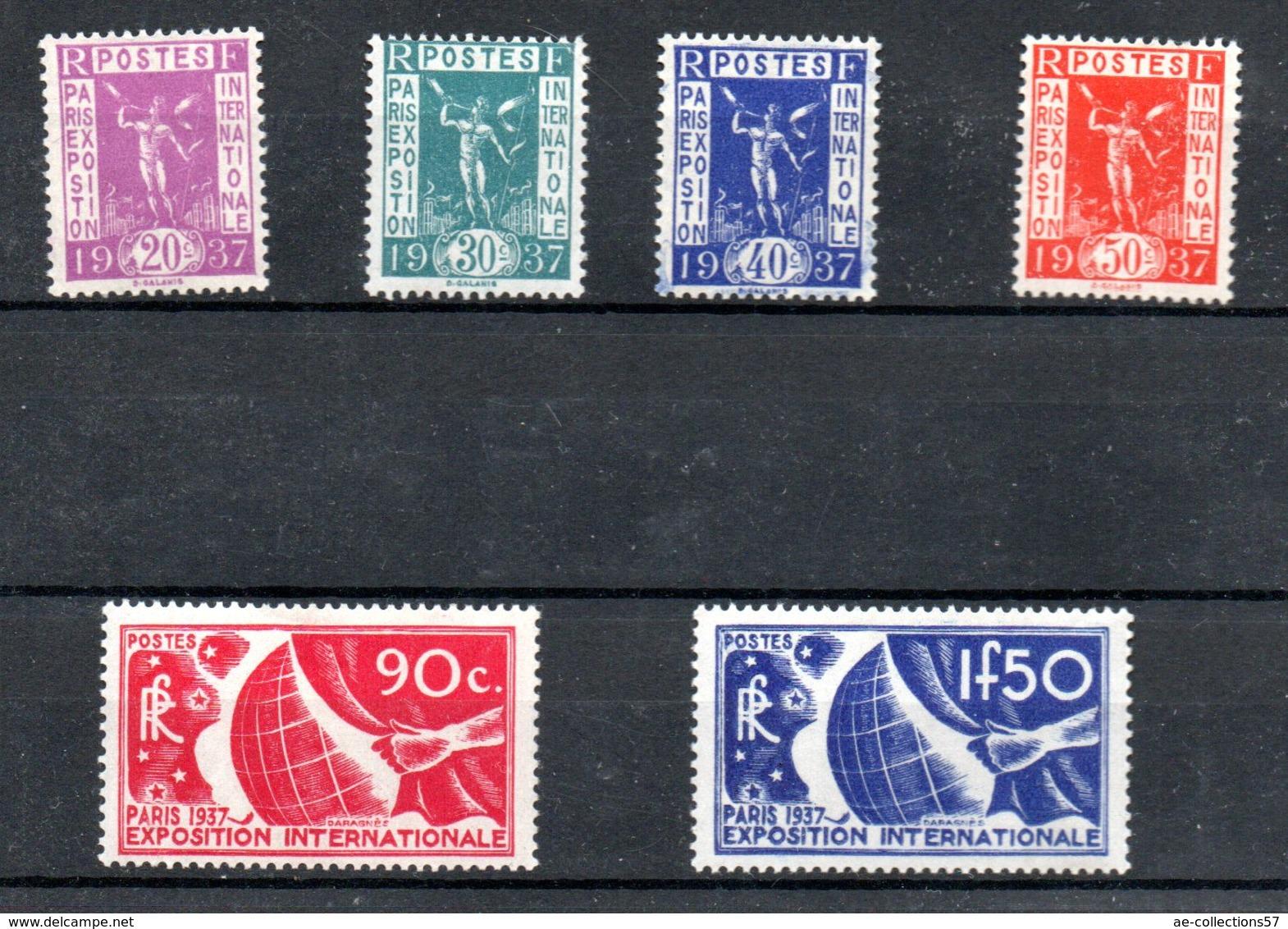 Série N 322 à 327 / NEUFS **  /  Côte 125 € - Unused Stamps
