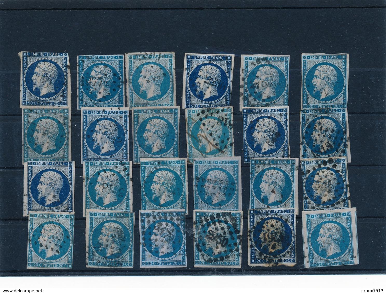 20 C Bleu X 24 Avec Défauts. - 1853-1860 Napoléon III