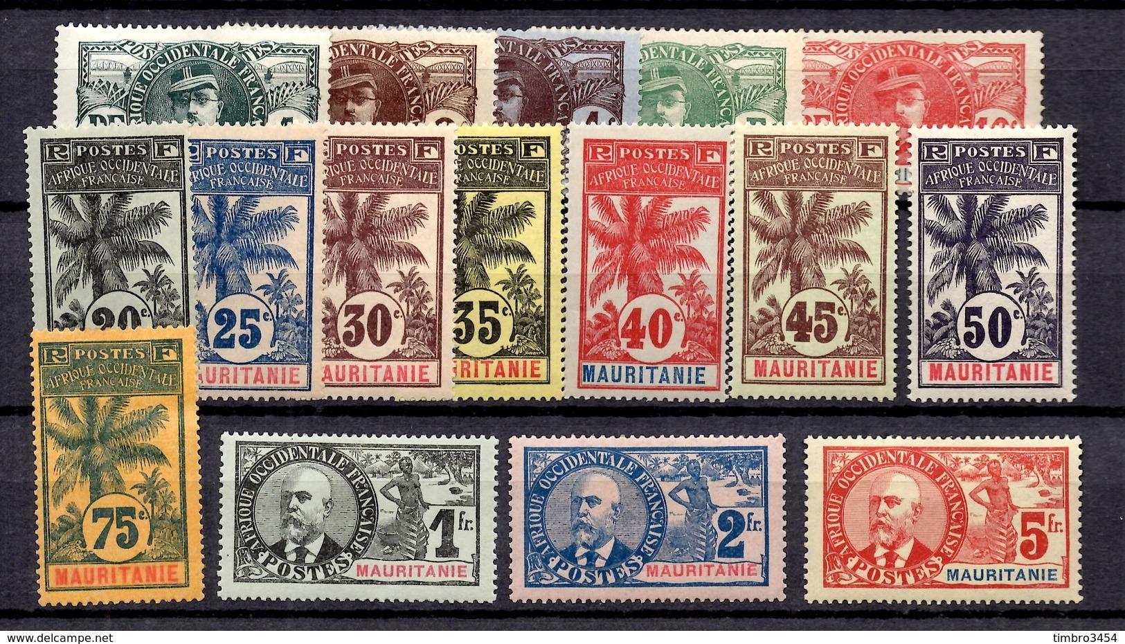 Mauritanie Maury N° 1/16 Neufs *. B/TB. A Saisir! - Mauritanie (1906-1944)