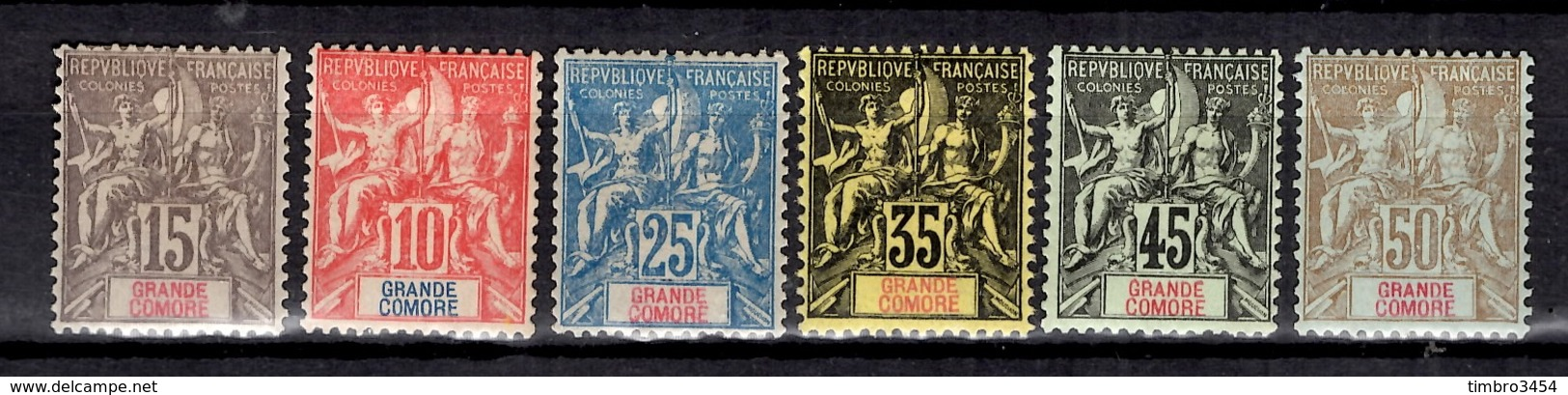 Grande Comore YT N° 14/19 Neufs *. B/TB. A Saisir! - Unused Stamps