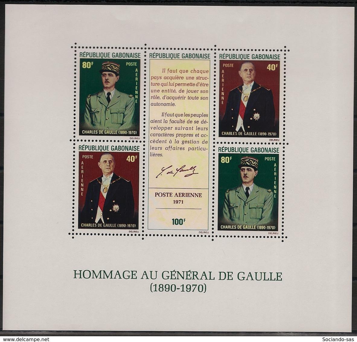 Gabon - 1971 - Bloc Feuillet BF N°Yv. 17 - De Gaulle - Neuf Luxe ** / MNH / Postfrisch - Gabun (1960-...)