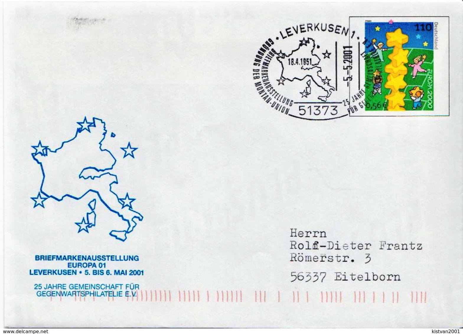 Postal History: Germany Postal Stationery Cover, Leverkusen - Europa-CEPT