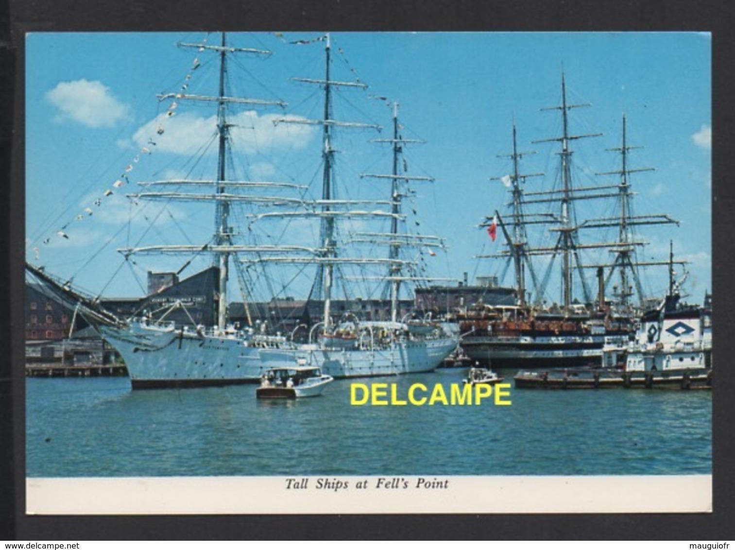 DF / BATEAUX / GRANDS VOILIERS A BALTIMORE  USA / DOR POMORZA POLONAIS (GAUCHE) ET AMERIGO VESPUCCI ITALIEN (DROITE) - Sailing Vessels
