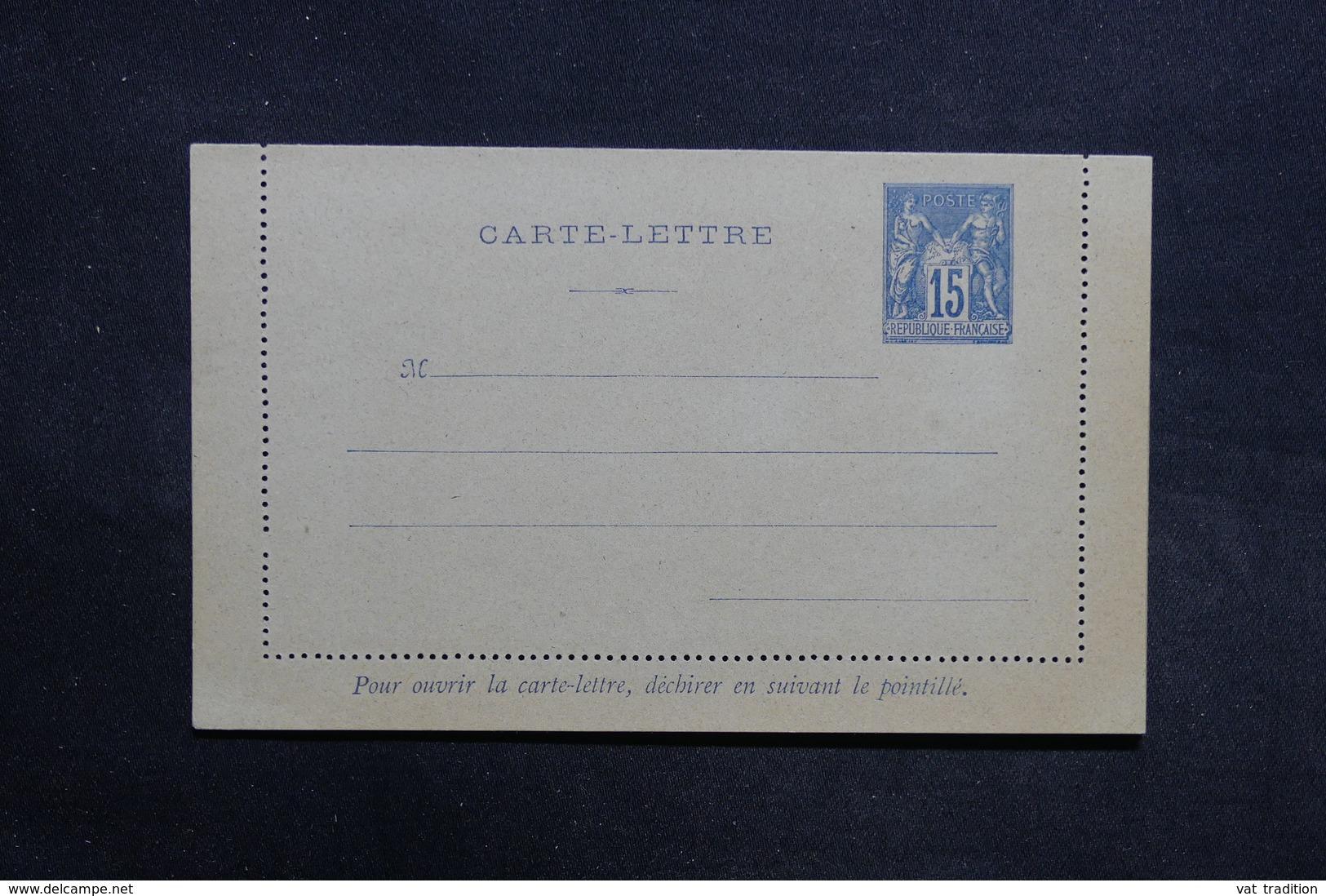FRANCE - Entier Postal Type Sage Non Circulé ( Petite Variété De Piquage ) - L 31450 - Postal Stamped Stationery