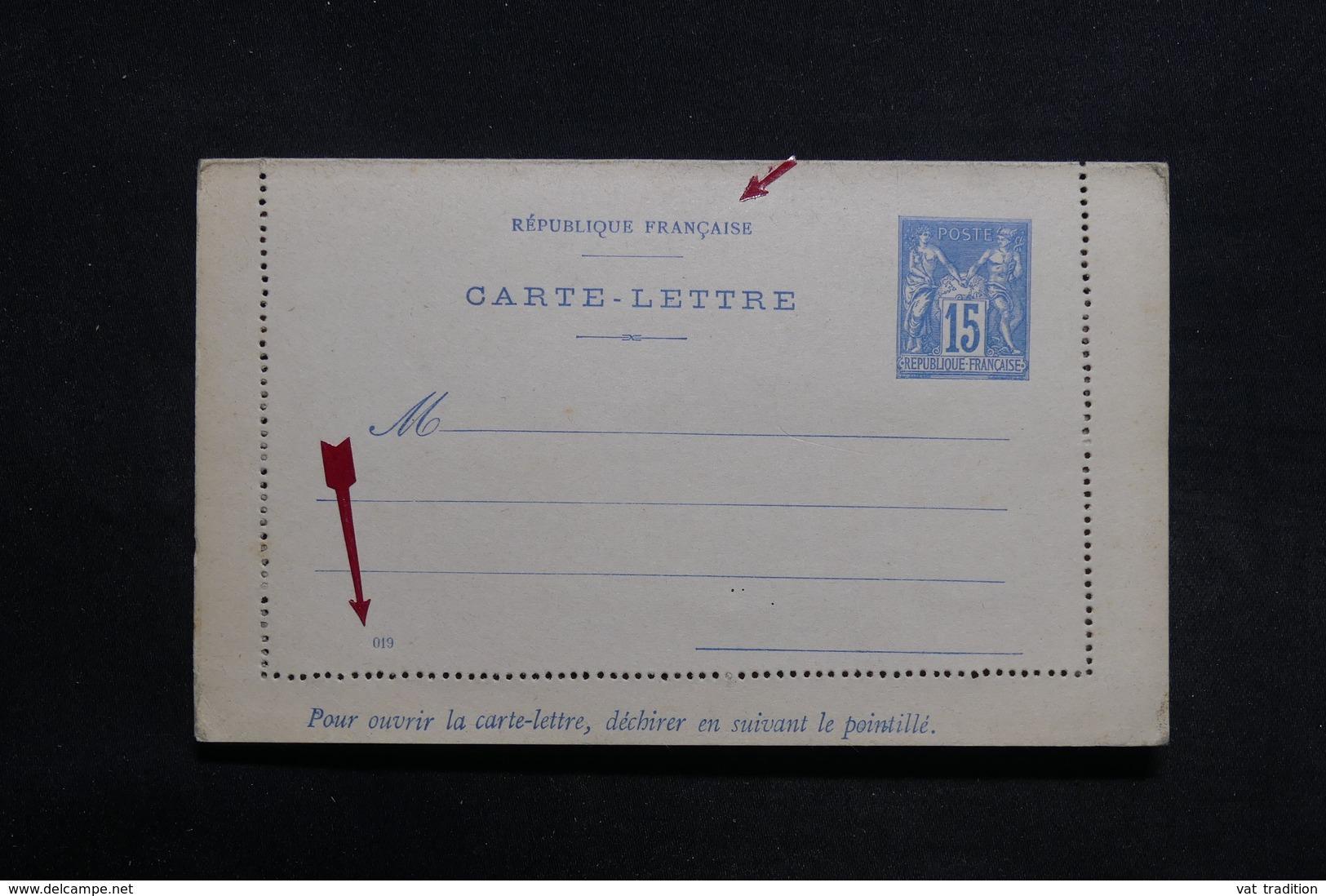 FRANCE - Entier Postal Type Sage Non Circulé - L 31454 - Postal Stamped Stationery