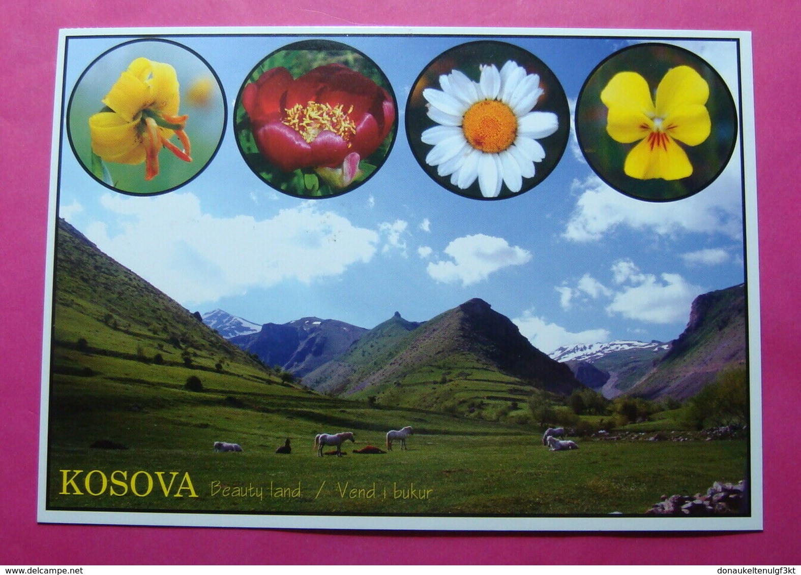 KOSOVO Airmail Postcard From ZUR To PRIZREN. 2015, RARE - Kosovo