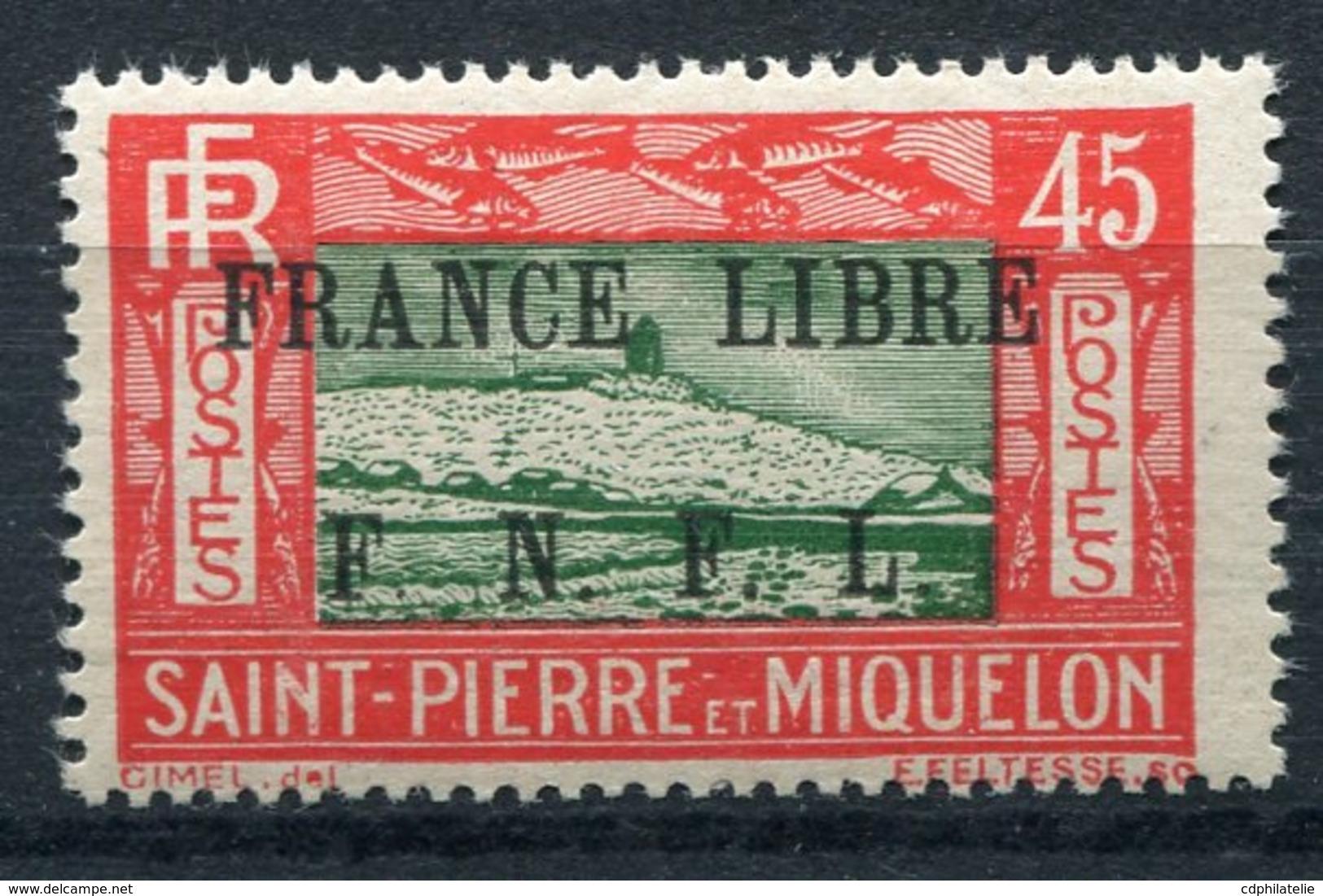 """SAINT PIERRE ET MIQUELON FRANCE LIBRE N°238** FAUX POUR """"REMPLIR"""" UNE CASE - Neufs"""