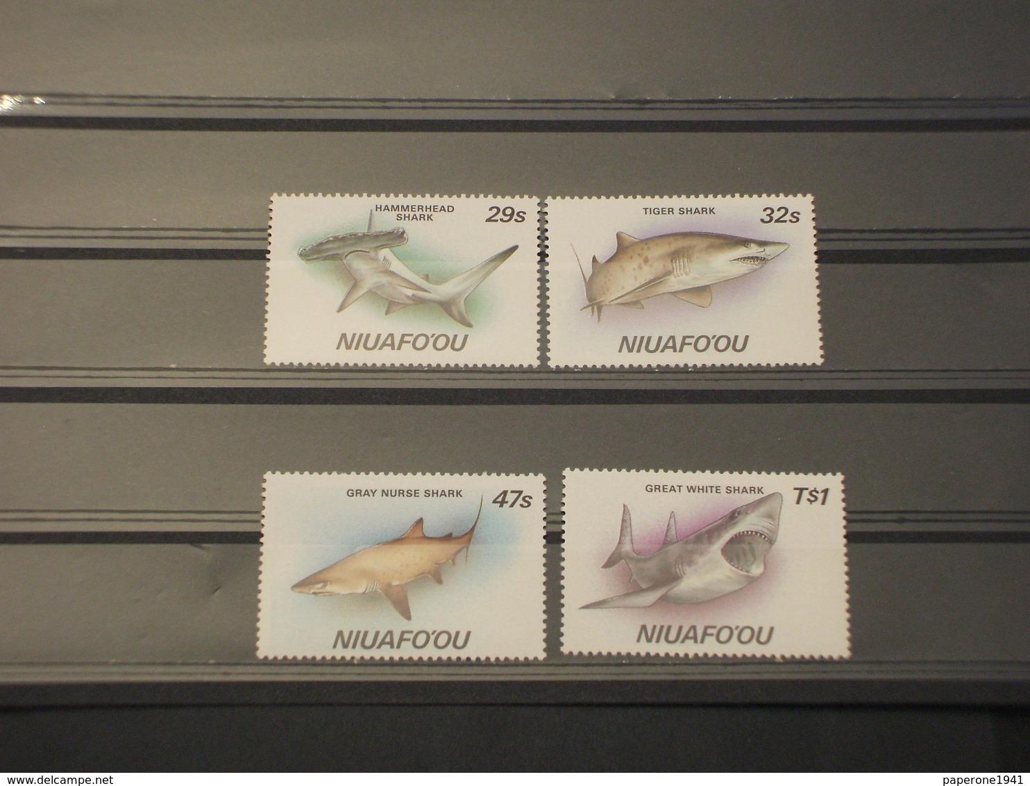 TONGA/NIUAFOOU - 1987 SQUALI 4 VALORI - NUOVI(++) - Tonga (1970-...)