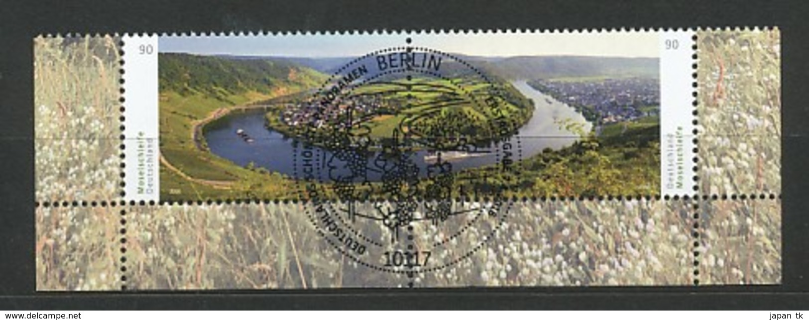 GERMANY Mi. Nr. 3225-3226 Moselschleife Bei Kröv  - ESST Berlin - Eckrand Unten Rechts - Used - Gebraucht