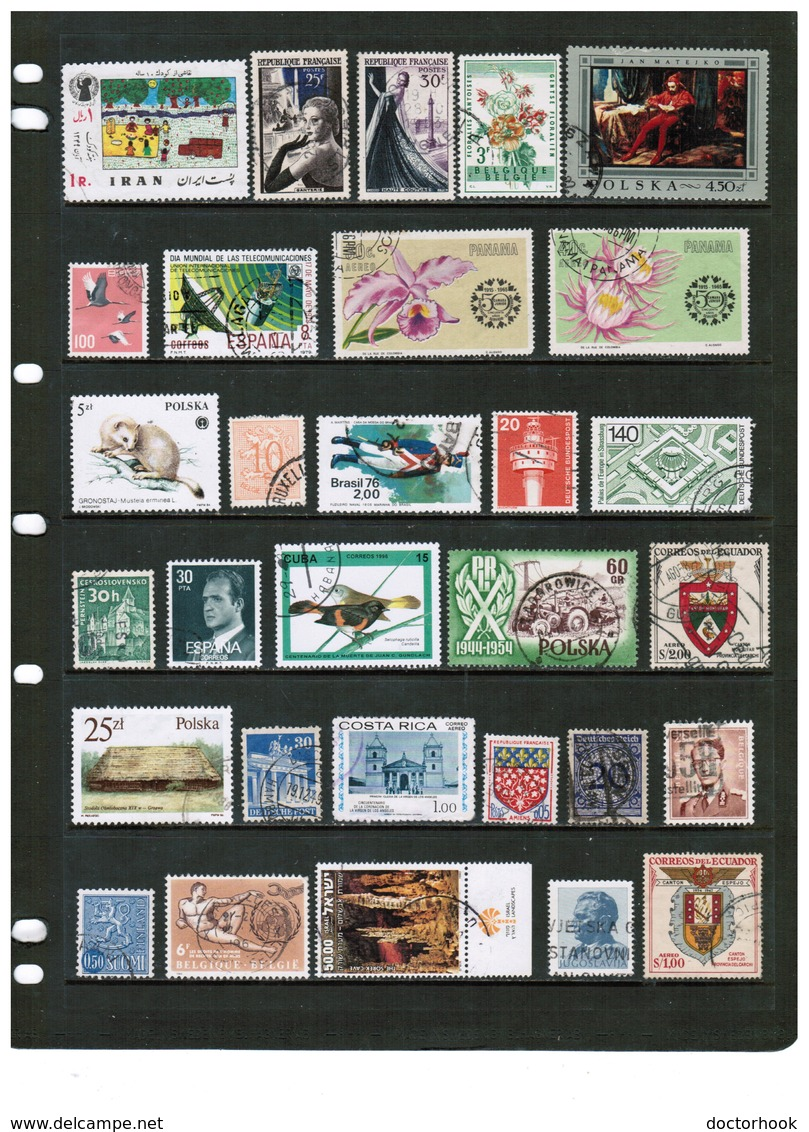 WORLDWIDE---Collection Of USED DL-712 - Stamps