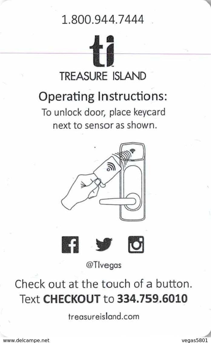 TREASURE ISLAND-  Hotel Casino Las Vegas - Hotel Room Key Card, Hotelkarte, Schlüsselkarte, Clé De L'Hôtel - Hotelkarten