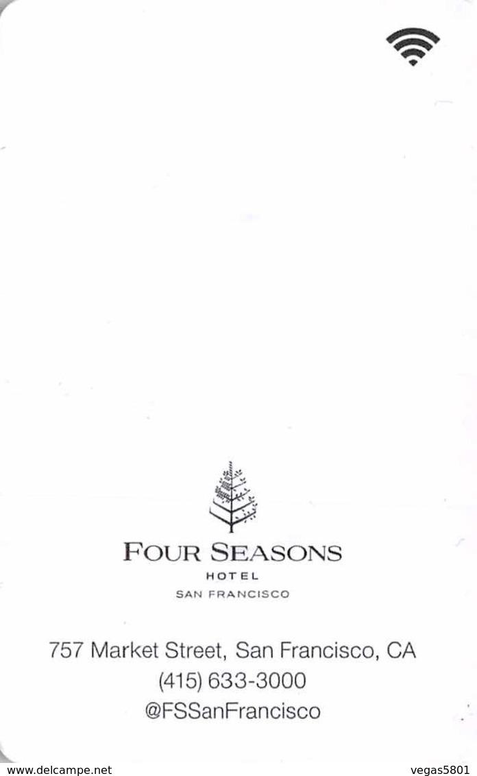FOUR SEASONS - SAN FRANCISCO - Hotel Room Key Card, Hotelkarte, Schlüsselkarte, Clé De L'Hôtel - Hotelkarten