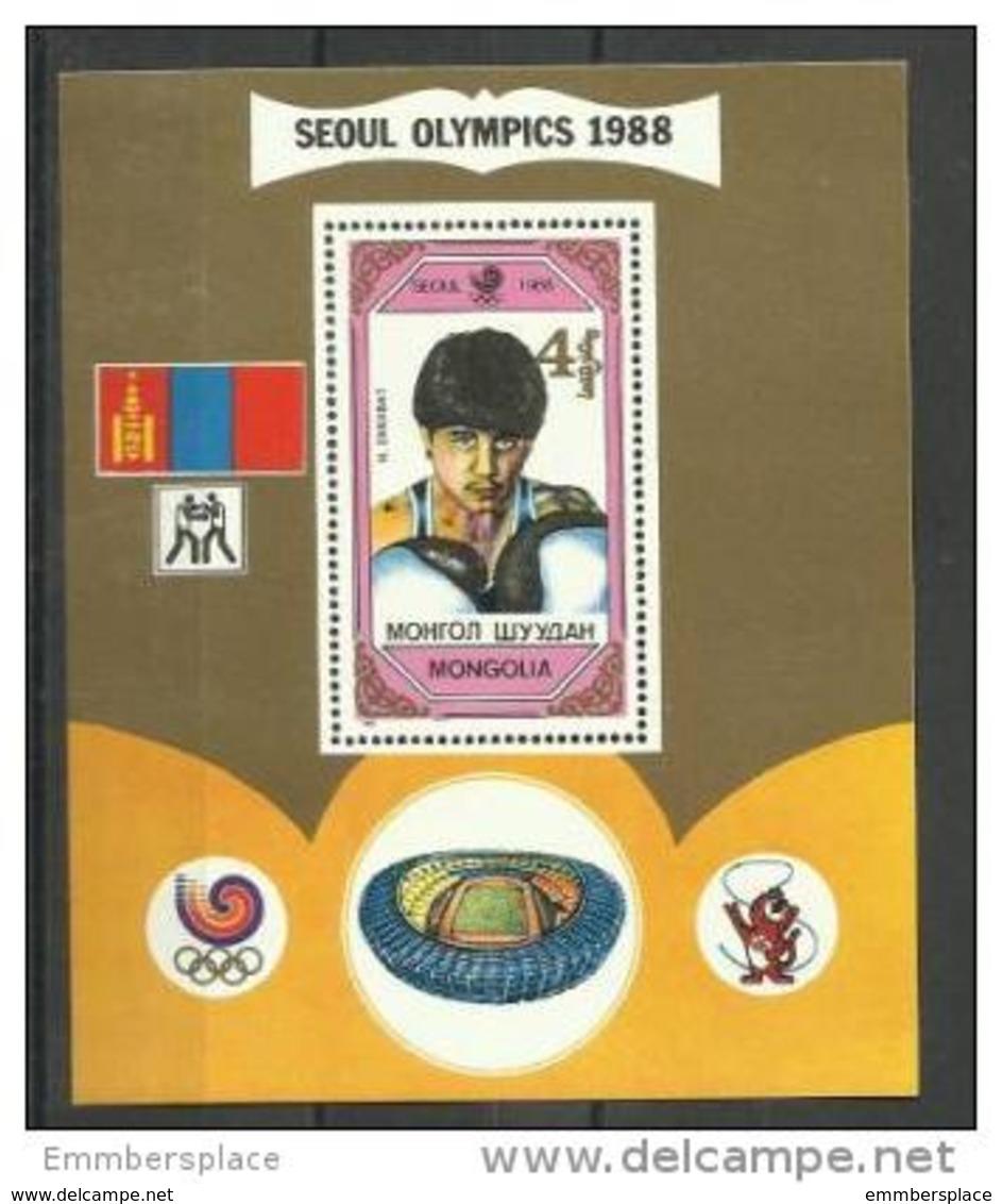 Mongolia - 1989 Olympic Winners Souvenir Sheet MNH **  Sc 1755 - Mongolia
