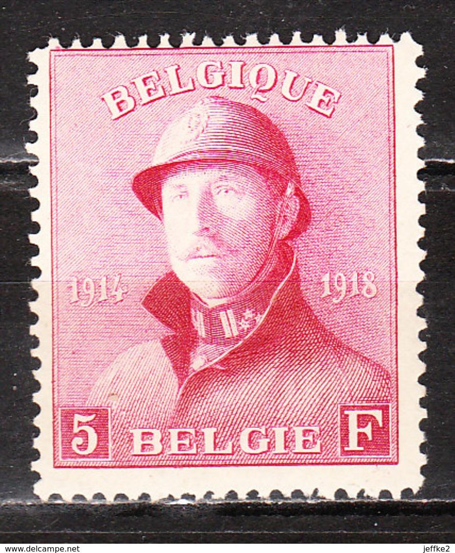 177*  Roi Albert Casqué - Bonne Valeur - MH* - LOOK!!!! - 1919-1920 Trench Helmet