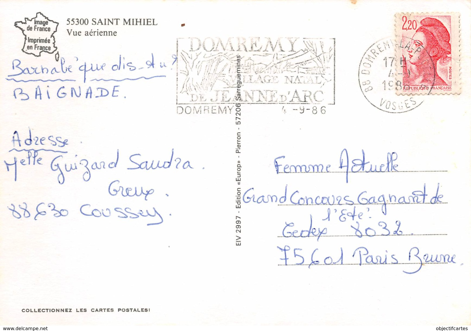 SAINT MIHIEL  Vue Du Ciel   9 (scan Recto-verso)KEVREN6Und - Saint Mihiel