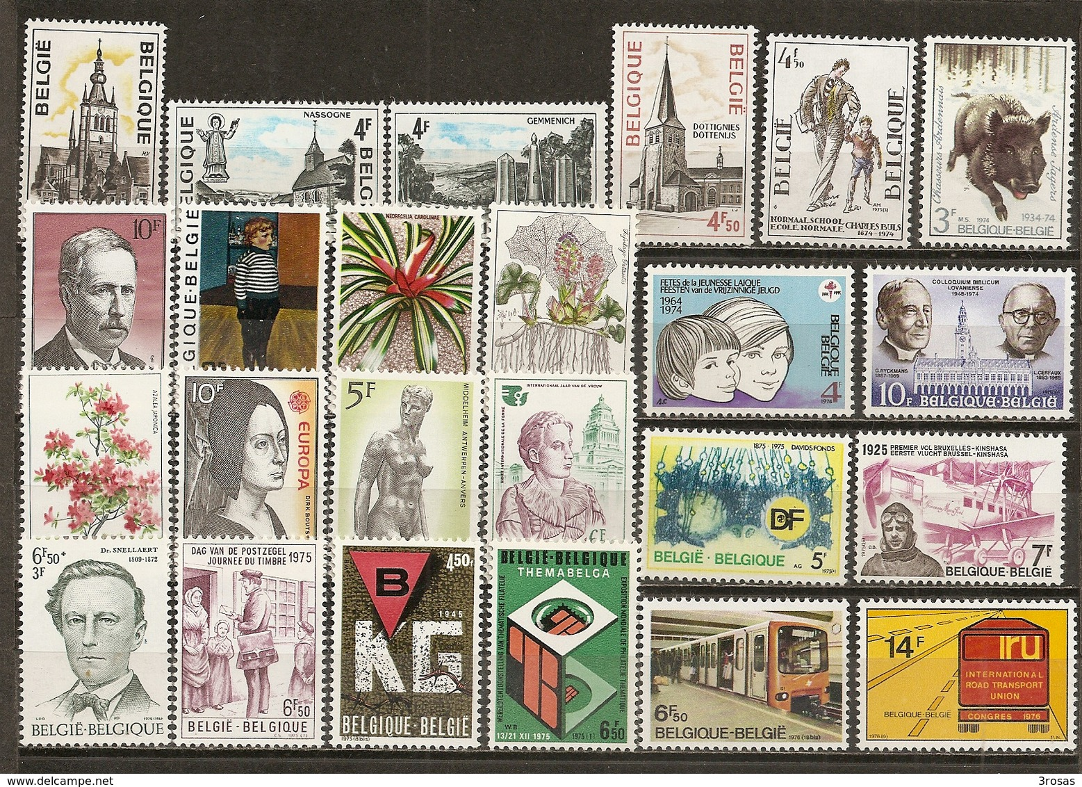 Belgique Belgium Collection Mostly Unmounted Mint With Complete Sets - Stamps