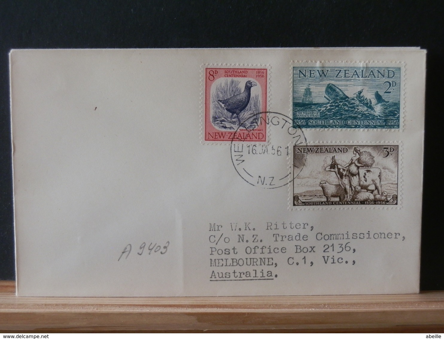 A9403 FDC  NOUVELLE ZELANDE  1956 - FDC