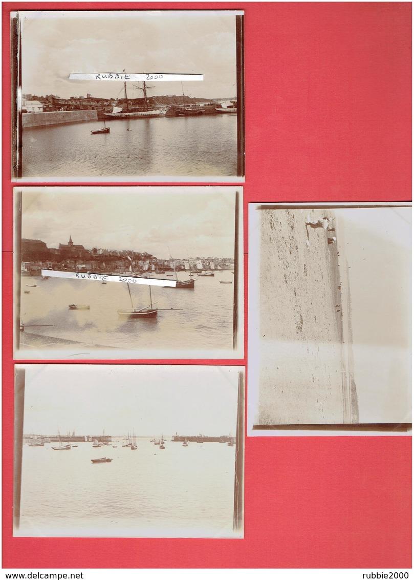 GRANVILLE MANCHE 1901 LOT 4 PHOTOGRAPHIES LE PORT - Lieux
