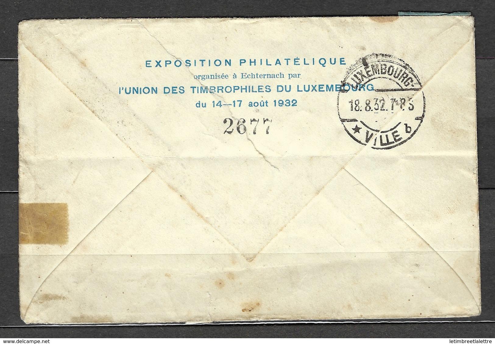 Première Poste Par Avion Echternach - Bruxelles, En Recommandé Le 17 Aout 1939, Belle étiquette Bi Langue - Covers & Documents