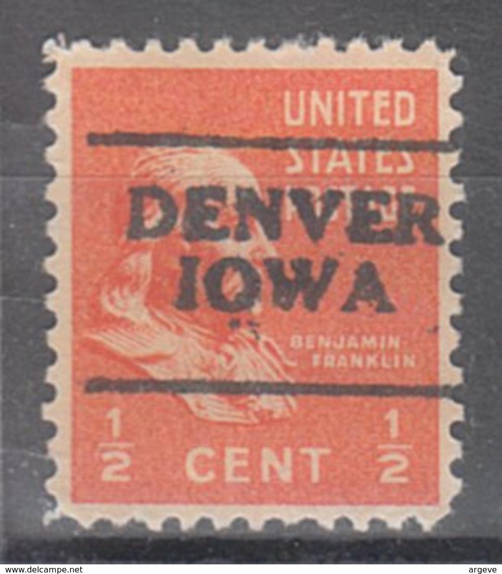 USA Precancel Vorausentwertung Preo, Locals Iowa, Denver 701 - Vereinigte Staaten