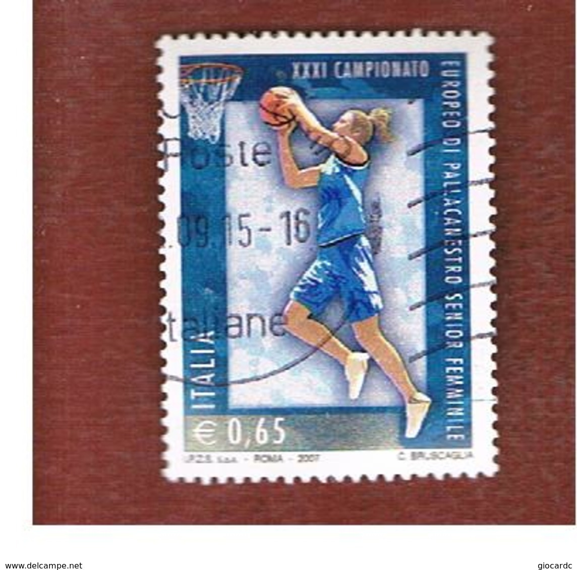 ITALIA REPUBBLICA  -  2007 PALLACANESTRO FEMMINILE   - USATO ° - 6. 1946-.. Repubblica