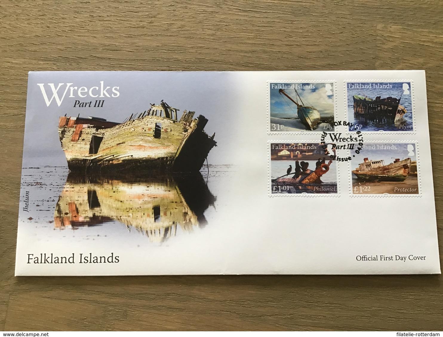 Falklandeilanden / Falkland Islands - Postfris / MNH - FDC Scheepswrakken 2019 - Falklandeilanden