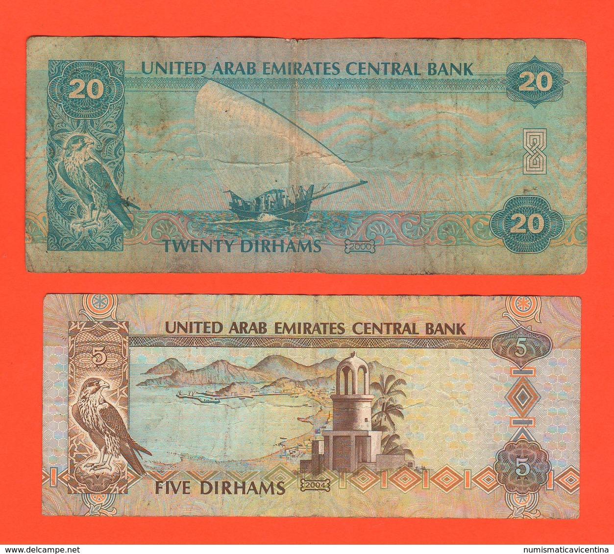 Arabia Saudita United Arab Emirates 5 + 10 + 20 Dirhams - Ver. Arab. Emirate