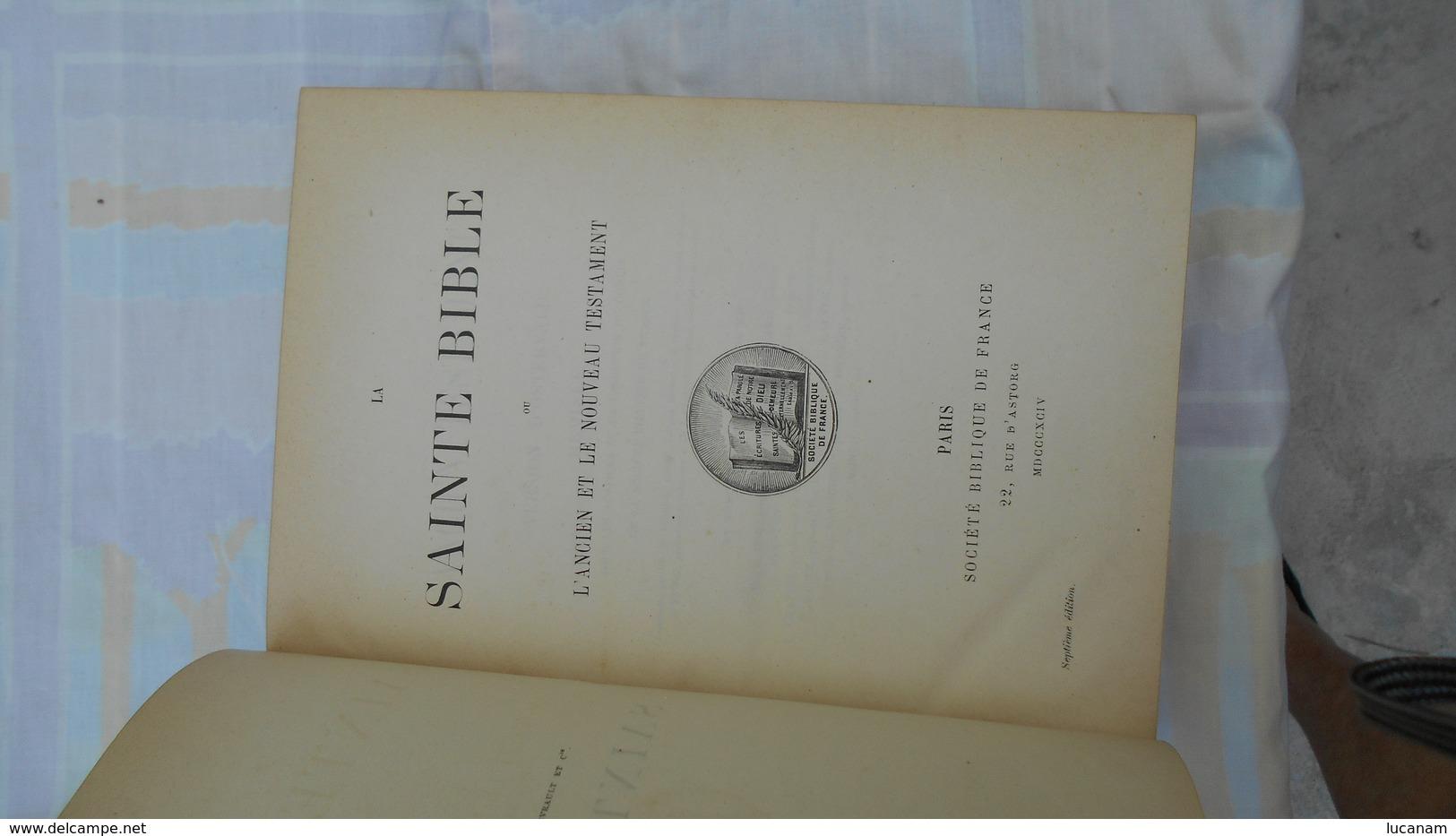 Bible Ostervald 1894 - Libros, Revistas, Cómics