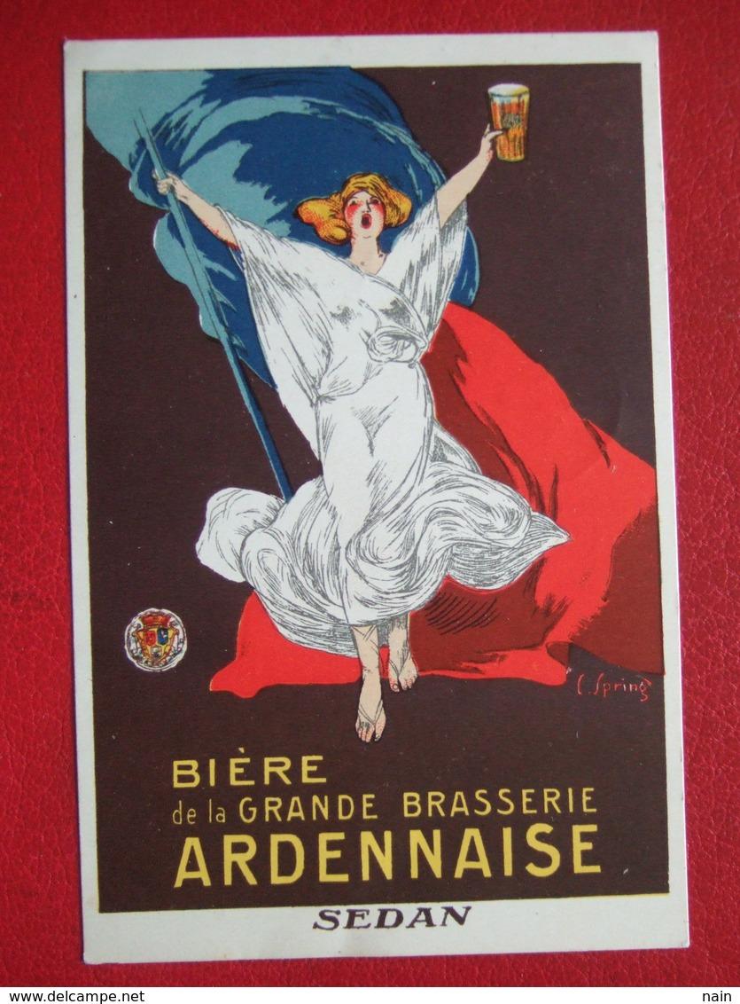 "08  - SEDAN - "" AFFICHE : BIERE  DE LA GRANDE BRASSERIE ARDENNAISE  SEDAN "" - CARTE COMMERCIALE -  /// TRES RARE /// - Sedan"