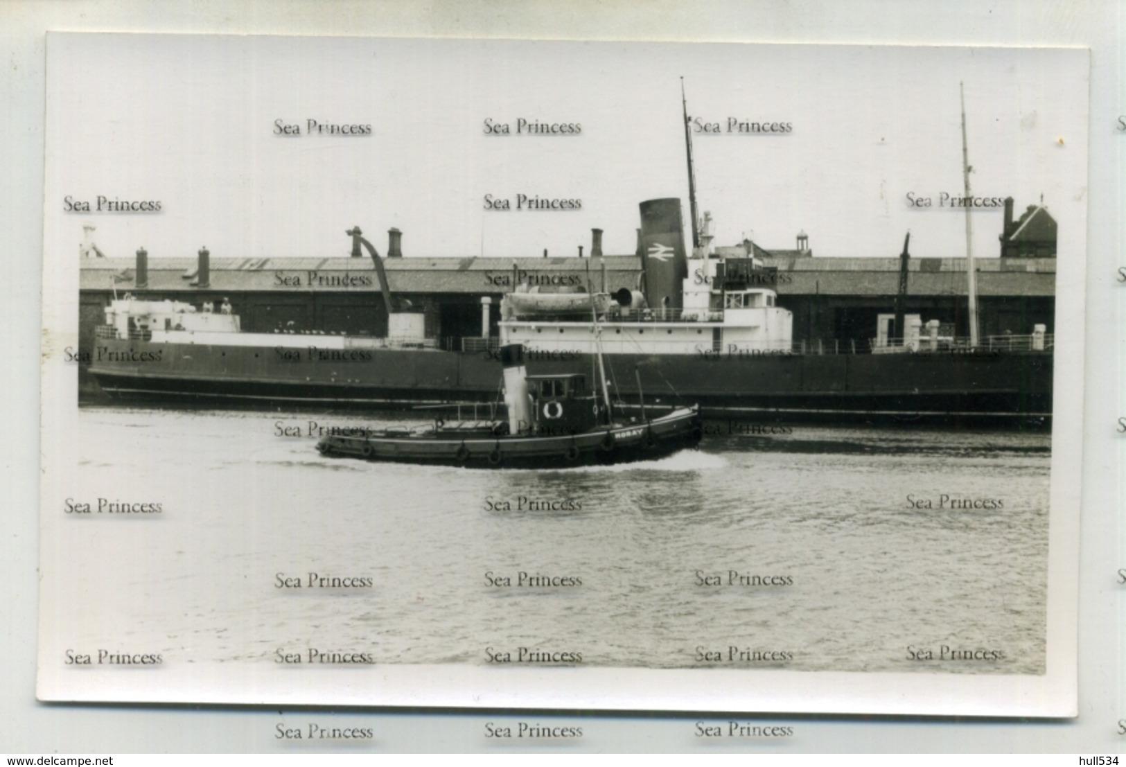 Ireland Photo Dublin SS Slieve League Tug Noray Cargo Ferry  Dublin North Wall 1965 - Dublin