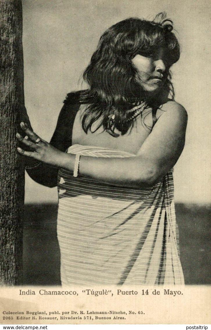 INDIA CHAMACOCO TUGULE. PUERTO 14 DE MAYO. -  Fonds Victor FORBIN 1864-1947 / PLAIN BACK - Paraguay