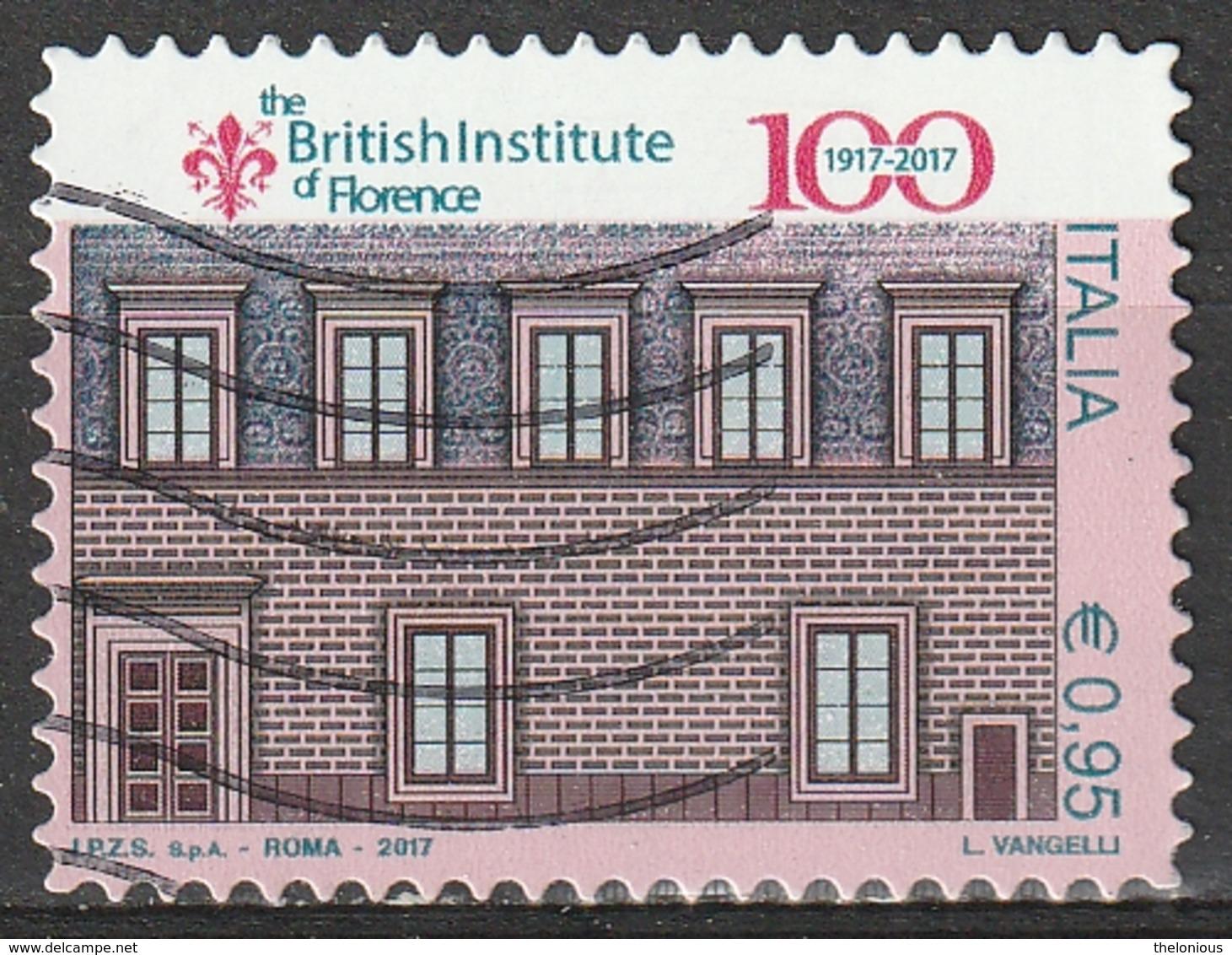 Italia 2017 - 0,95 Cent. British Institute Di Firenze - 6. 1946-.. Repubblica