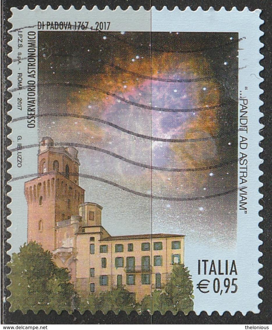 Italia 2017 - 0,95 Cent. Osservatorio Astronomico Di Padova - 6. 1946-.. Repubblica