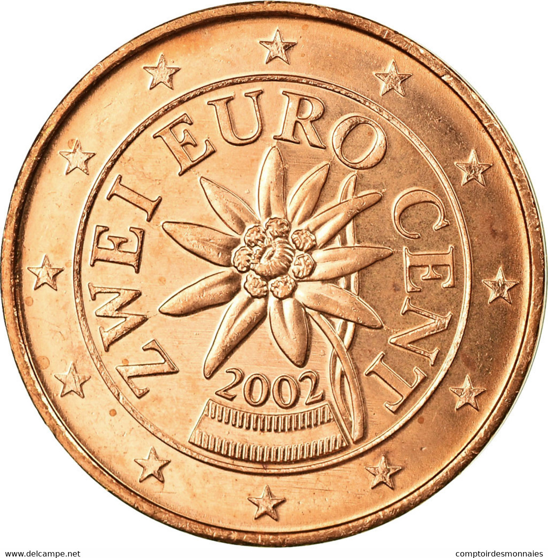 Autriche, 2 Euro Cent, 2002, SUP, Copper Plated Steel, KM:3083 - Autriche