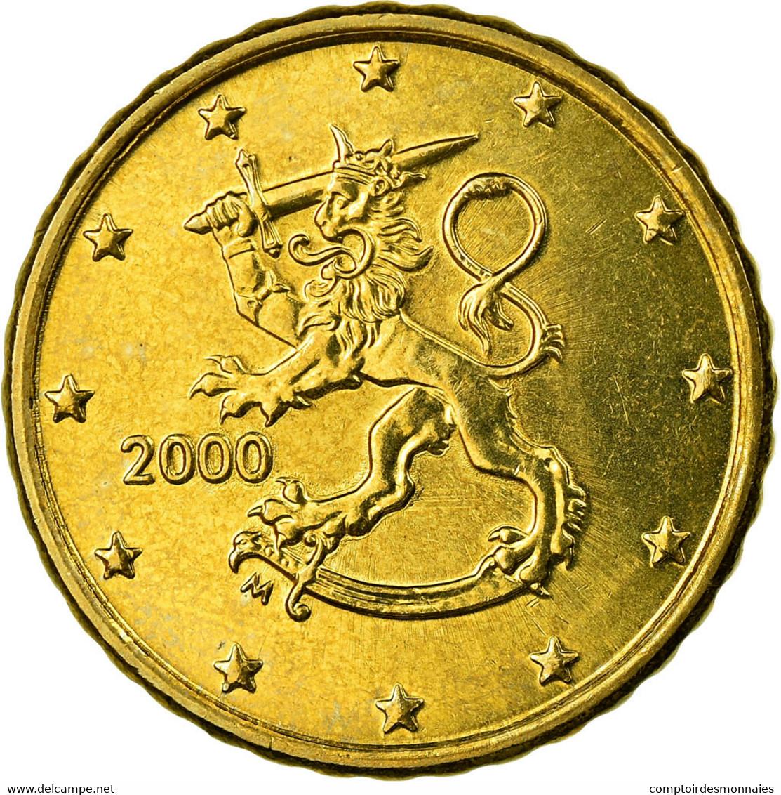 Finlande, 10 Euro Cent, 2000, SUP, Laiton, KM:101 - Autriche