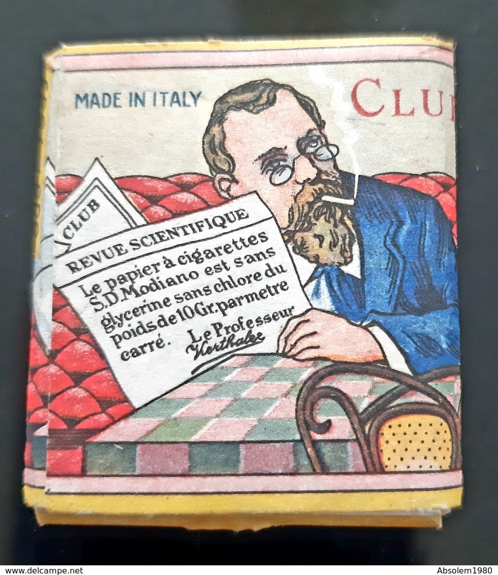 ROULEAU PAPIER A CIGARETTES CLUB SD MODIANO TABAC TOBACCO TABACOLOGIE ROLLING PAPER ITALY ITALIA - Autres