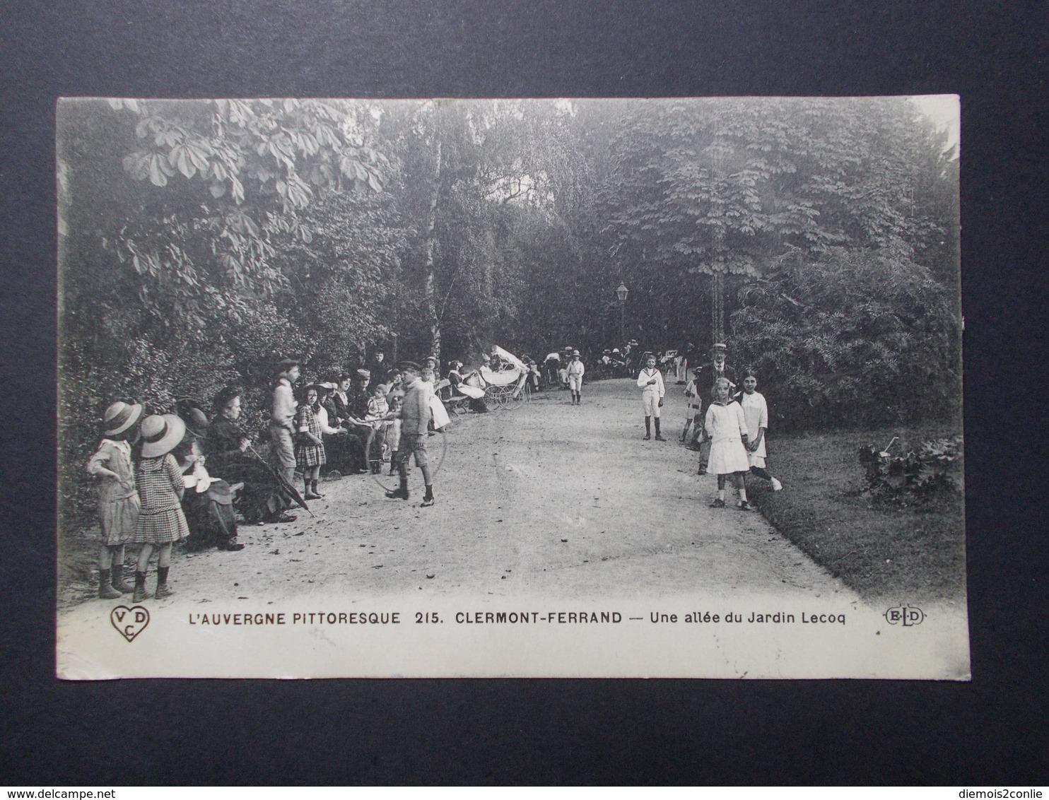 Carte Postale - CLERMONT FERRAND (63) - Une Allée Du Jardin Lecoq - 1916 (2858) - Clermont Ferrand