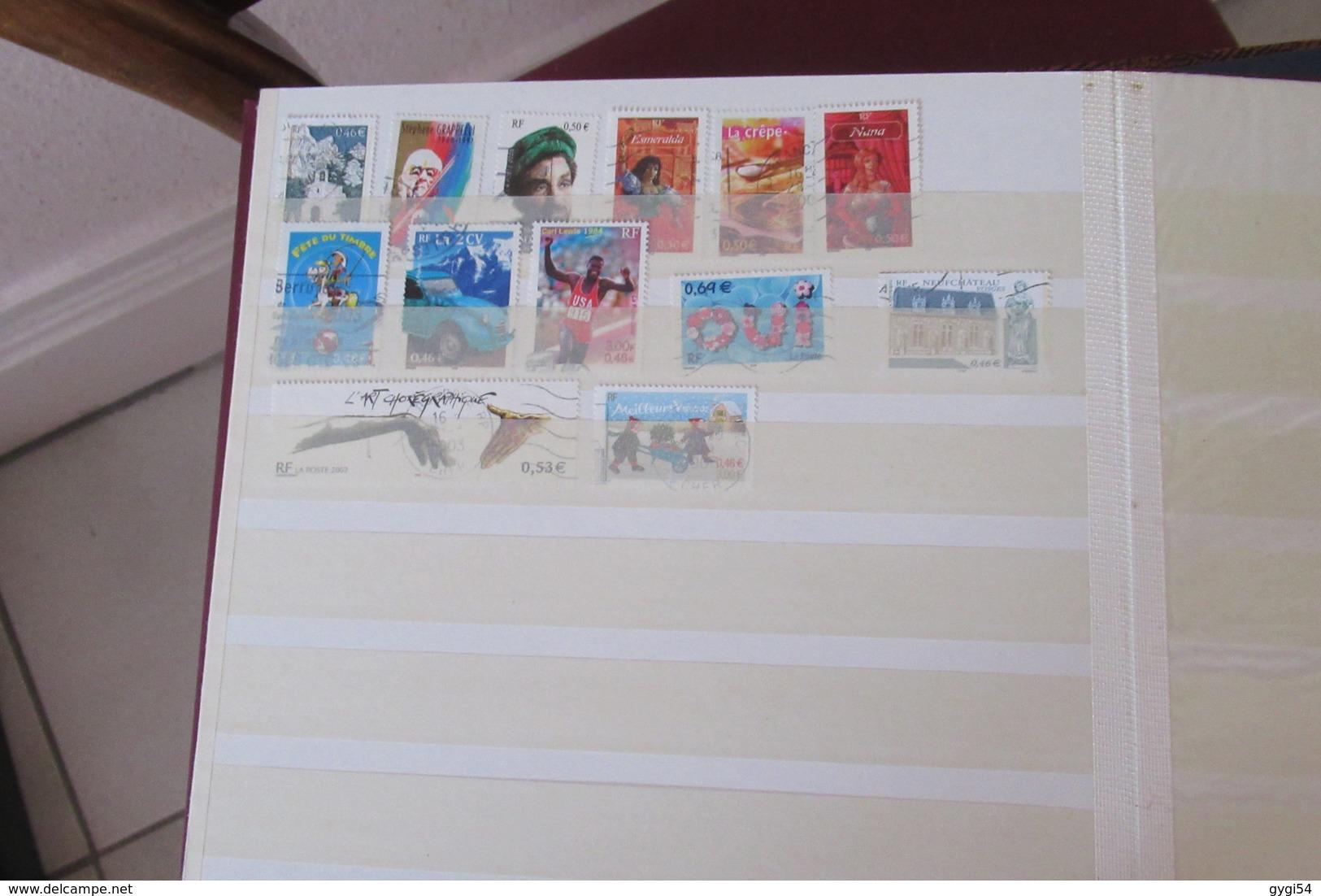 FRANCE Dans 4 Classeurs à Bandes  CAT YT  LOT  DE TIMBRES SCANS - Stamps