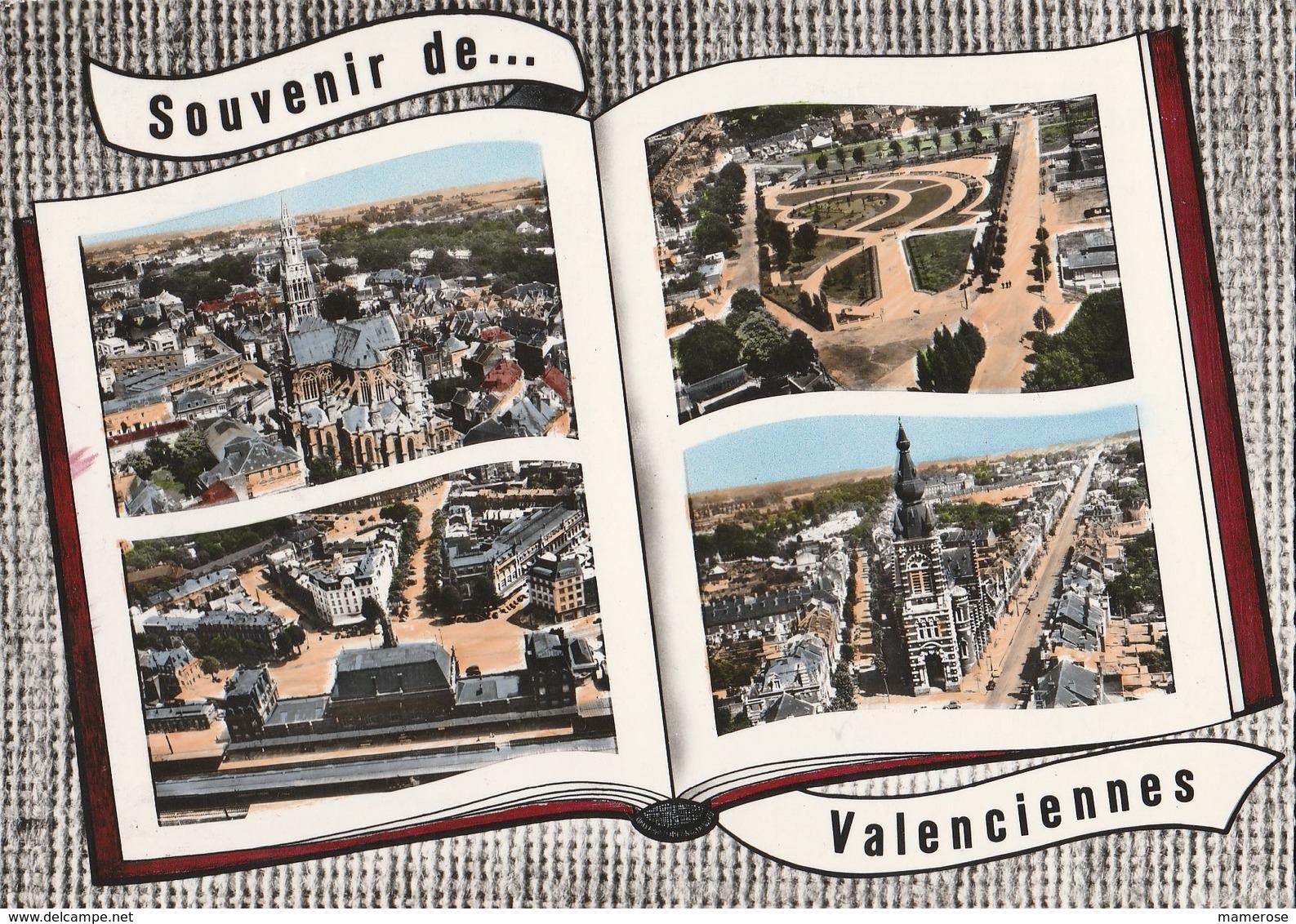 VALENCIENNES (59). Souvenir De ... Forme Livre: N.D De St-Cordon, Jardin Public, Place De La Gare, Eglise St-Michle - Valenciennes