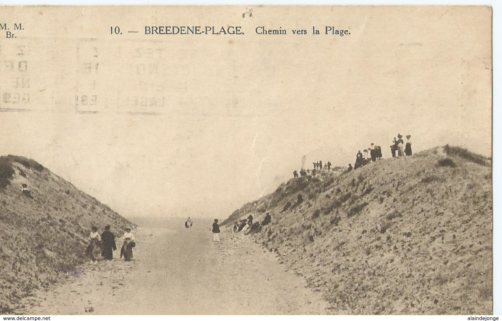 Bredene A/Zee - Bredene S/Mer - Breedene-Plage - Chemin Vers La Plage - M.M. Br. 10 - 1938 - Bredene