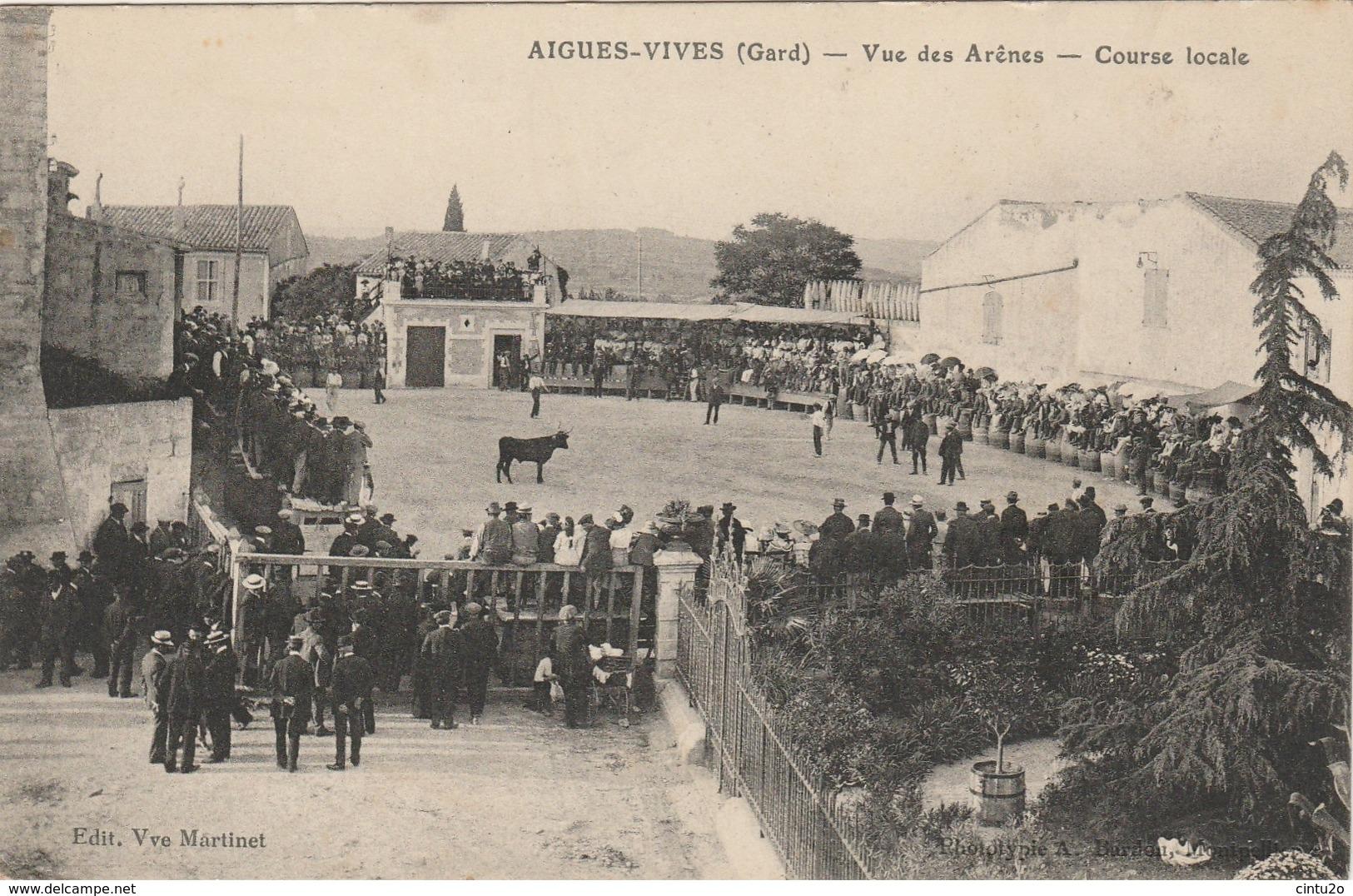 Gard . Aigues-Vives .Vue Des Arênes. Course Locale . - Aigues-Vives
