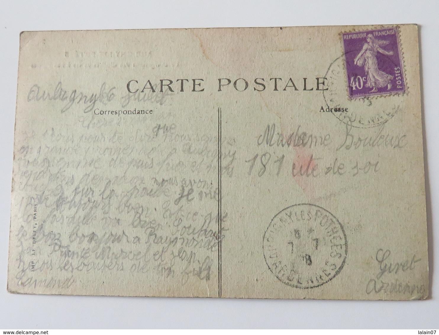 C. P. A. : 08 AUBIGNY-LES -POTEES : Le Chargement Des Cloches Volées à Nos Eglises, Animé, Timbre En 1928 - Francia